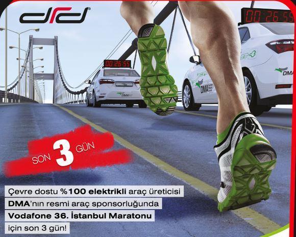 Vodafone 36. İstanbul Maratonu'nun resmi araç sponsoru