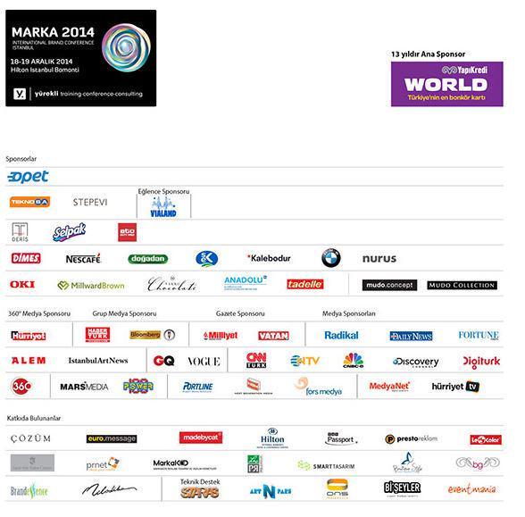 2014 Marka Zirvesi'nin 13 yıllık sponsoru