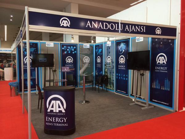 Anadolu Ajansı'nın AA Energy News standı, global iletişim sponsoru