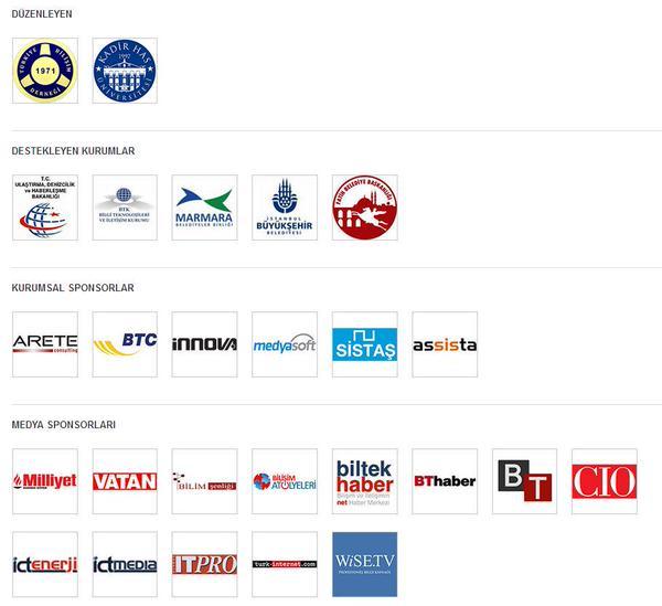 VIII. İstanbul Bilişim Kongresi sponsorları