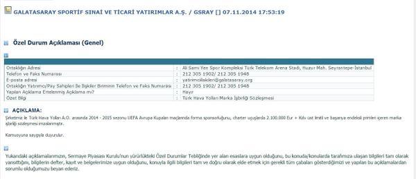Türk Hava Yolları forma sponsoru