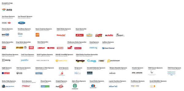 Pazarlama Zirvesi 2014'ün tüm sponsorları