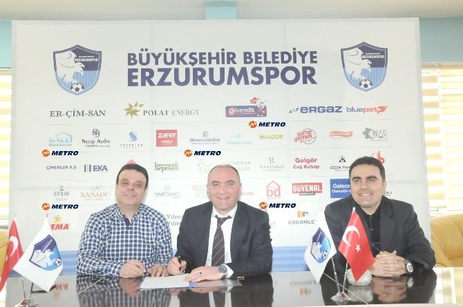 Metro Turizm B. B. Erzurumspor'a Sponsor Oldu