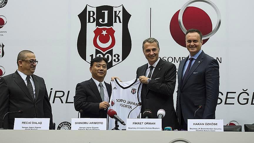 Beşiktaş – Sompo Japan Sigorta 1 yıllık İsim Sponsorluğu Detayları