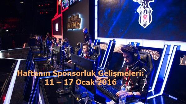 Haftanın Sponsorluk Gelişmeleri: 11 – 17 Ocak 2016