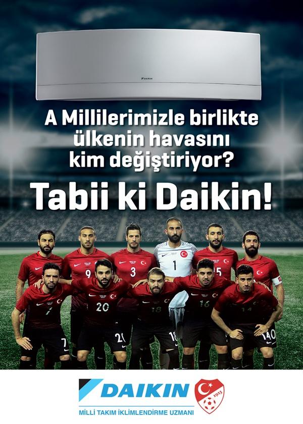 Daikin, Türk Milli Futbol Takımı'nın Resmi Sponsoru oldu