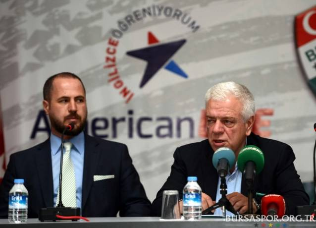 Bursaspor, American Life Dil Okulları ile sponsorluk anlaşması imzaladı