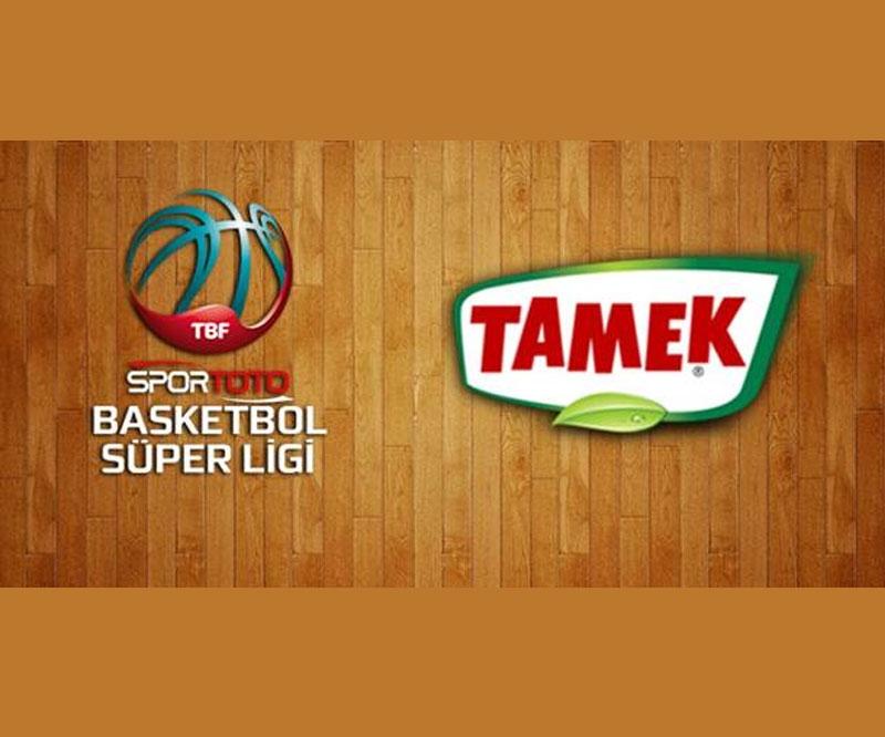 """Spor Toto Basketbol Süper Ligi'nin yeni sponsor """"TAMEK"""" oldu"""
