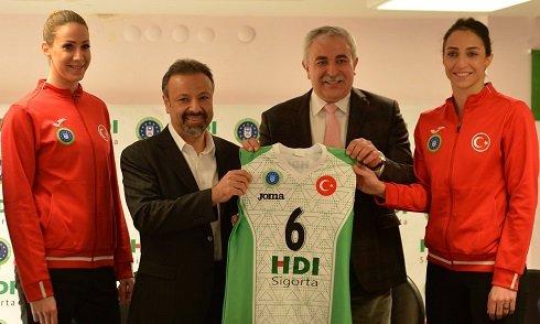 HDI Sigorta, Bursa Büyükşehir Voleybol Takımı'na sponsor oldu
