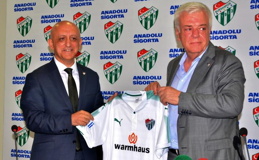 Bursaspor Anadolu Sigorta ile sponsorluk anlaşması imzaladı