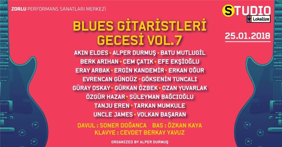 Karnaval Sponsorluğunda Blues Gitaristleri Gecesi