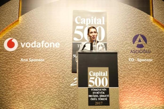 Vodafone Türkiye Ana Sponsorluğunda Capital 500 Ödülleri