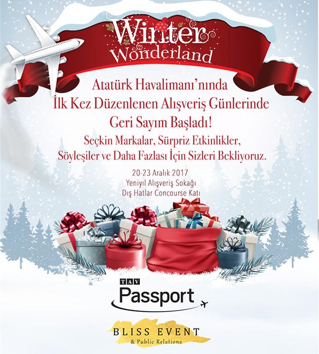 TAV PassportAna Sponsorluğunda Yılbaşı Alışveriş Sokağı