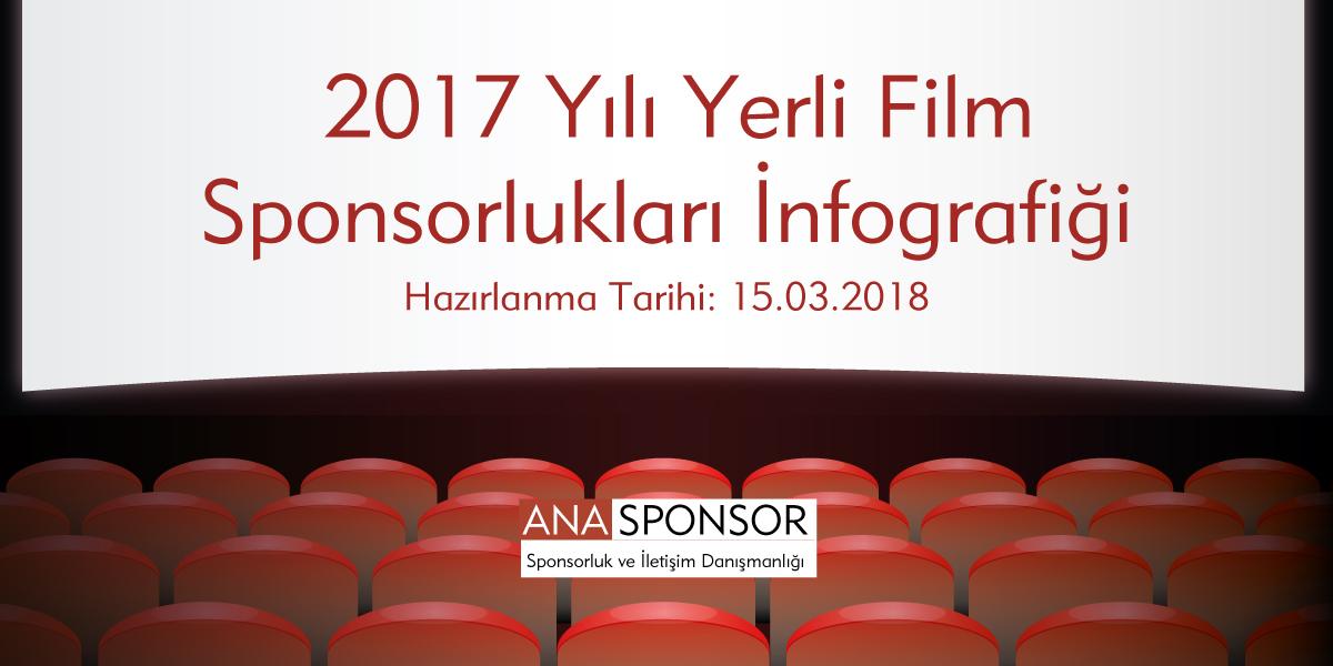2017 Yılı Yerli Film Sponsorlukları İnfografiği