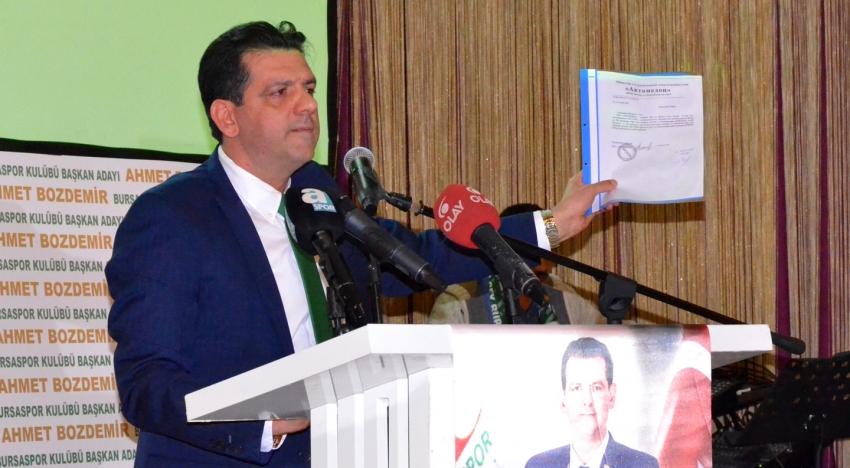 Bursaspor Kulübü İlk Başkan Adayından Açıklama