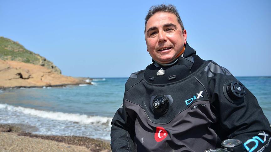 'Akvaryum adam' Türk Telekom Sponsorluğunda Troya Atı'yla Rekor Kıracak