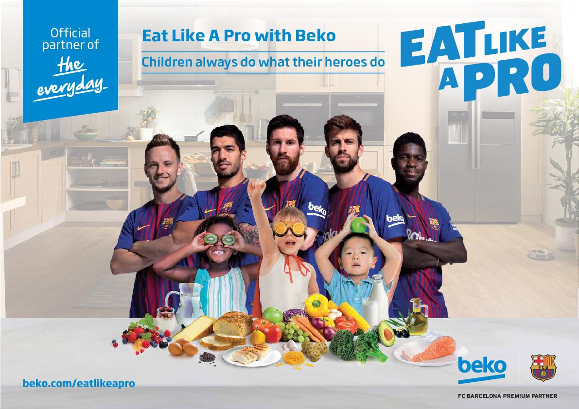 """Beko """"Eat Like A Pro"""" Farkındalık Kampanyası Ana Sponsoru"""