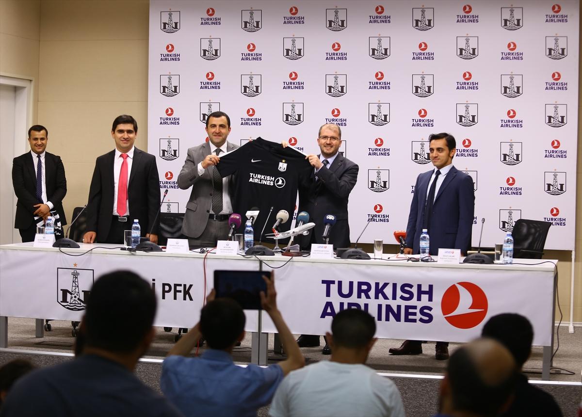 THY, Azerbaycan'ın futbol takımı Neftçi'ye sponsor oldu