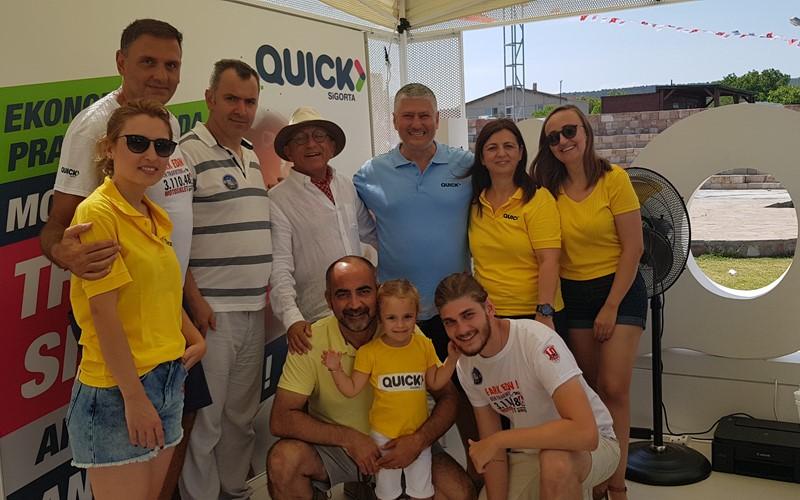 8. Balıkesir Uluslararası Motosiklet Festivali Sponsoru Quick Sigorta