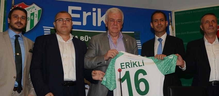 Bursaspor – Erikli Forma Kol Sponsorluğu Anlaşması