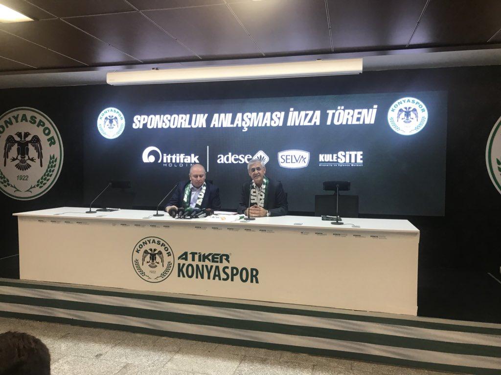 Konyaspor, İttifak Holding ile forma sponsorluğu anlaşması imzaladı