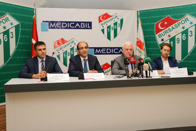 Bursaspor ile Medicabil Hastanesi Sağlık Sponsorluğu