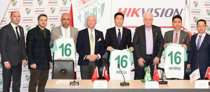 Bursaspor ile Hikvision Sponsorluk Anlaşması İmzaladı