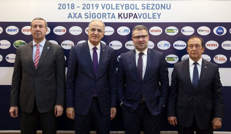 Voleybol Erkekler Kupası'nın isim sponsoru AXA Sigorta