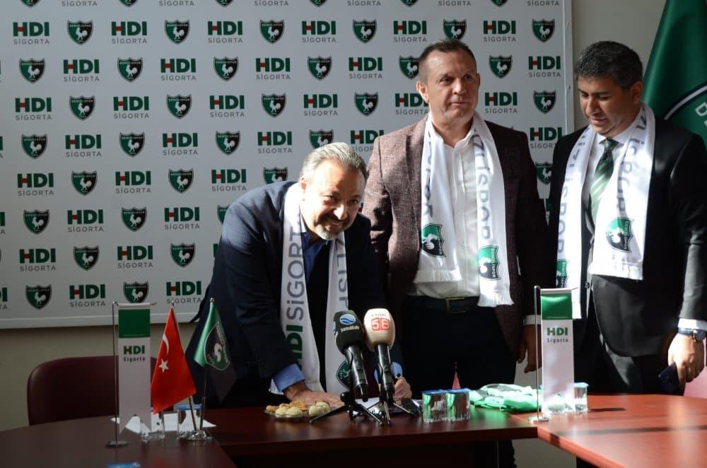 Denizlispor, HDI Sigorta ile Sponsorluk Anlaşması İmzaladı