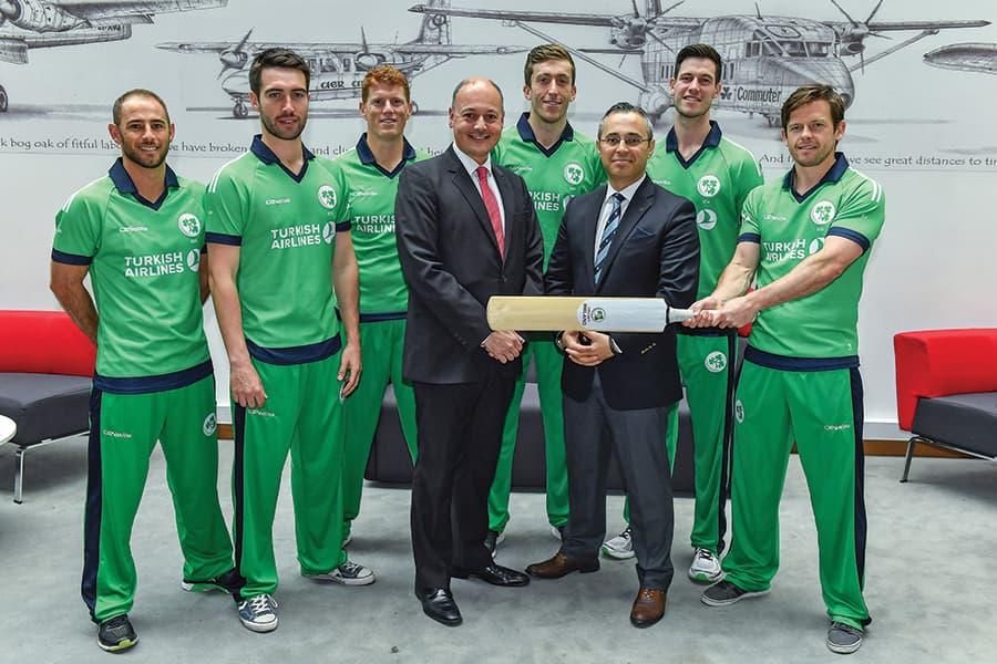 Türk Hava Yolları İrlanda Kriket'e Ana Sponsor Oldu