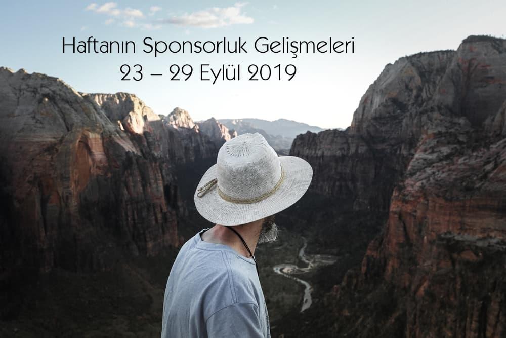 Haftanın Sponsorluk Gelişmeleri: 23 – 29 Eylül 2019