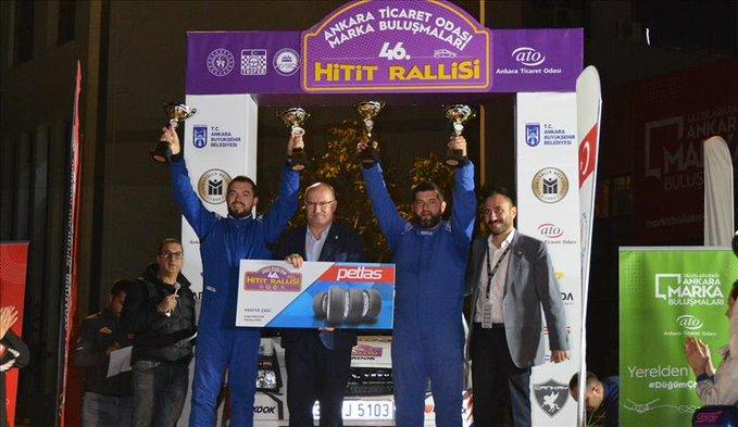 Ankara Marka Buluşmaları 46'ncı Hitit Rallisi Ana Sponsoru Petlas, Dereceye Giren Ekiplere Hediyelerini Takdim Etti