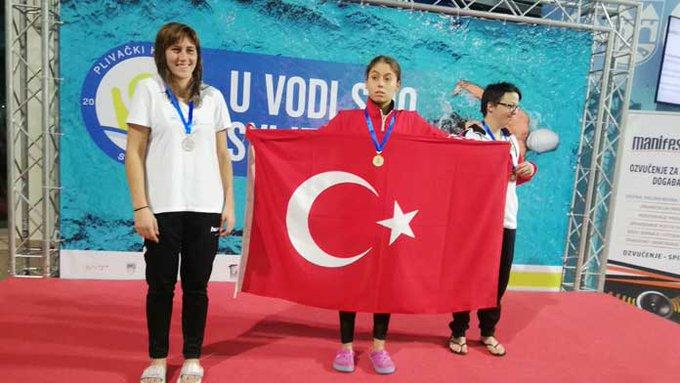 Folkart'ın Sponsoru Olduğu Milli Özel Yüzücümüz Şevval Tekin Altın Madalya Kazandı