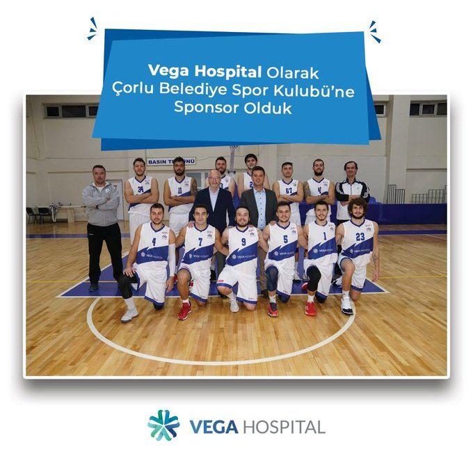 Vega Hospital, Çorlu Belediye Spor Kulubü'nün Sağlık Sponsoru Oldu