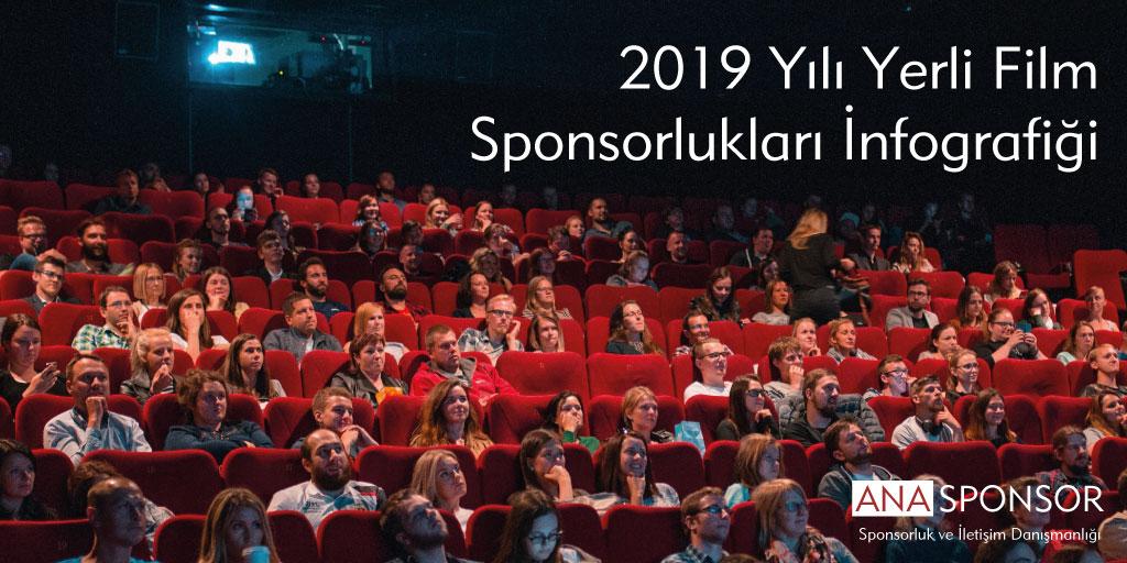 2019 Yılı Yerli Film Sponsorlukları İnfografiği