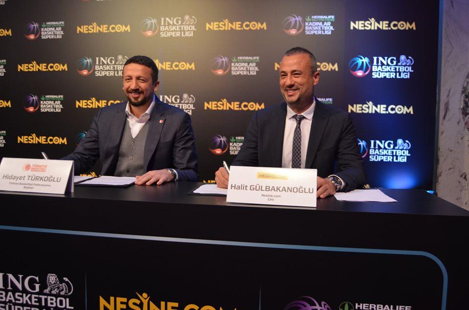 Nesine.com, ING BSL ve Kadınlar Basketbol Süper Ligi'nin Ana Sponsoru Oldu