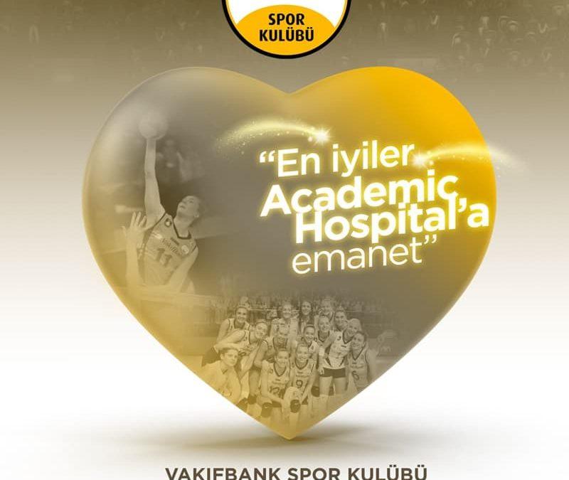 Academic Hospital, Vakıfbank Spor Kulübü'nün Sağlık Sponsoru Oldu