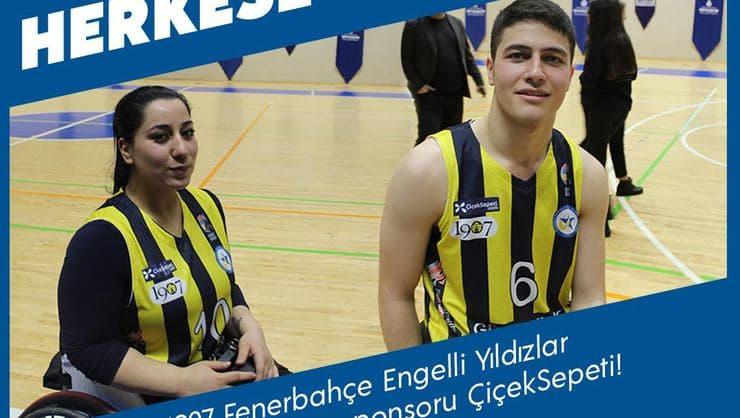 ÇiçekSepeti, 1907 Fenerbahçe Engelli Yıldızlar Basketbol Takımı'nın Sponsoru Oldu