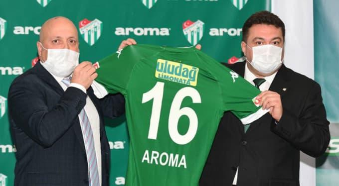 Aroma, Bursaspor ile Çorap Sponsorluğu Konusunda Anlaşma Sağladı