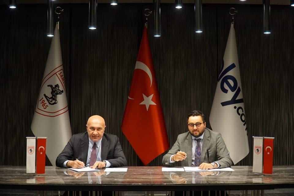 Yılport Samsunspor'un 2020-2021 Resmi Bahis Sponsoru Oley.com Oldu