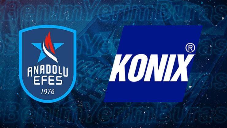 KONIX, Anadolu Efes Spor Kulübü'nün Resmi Hijyen Sponsoru Oldu