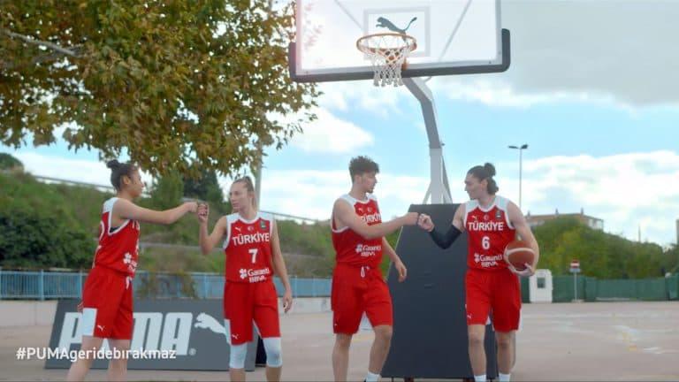 Türkiye Basketbol Milli Takımları'nın resmi forma sponsoru Puma'dan yeni reklam filmi