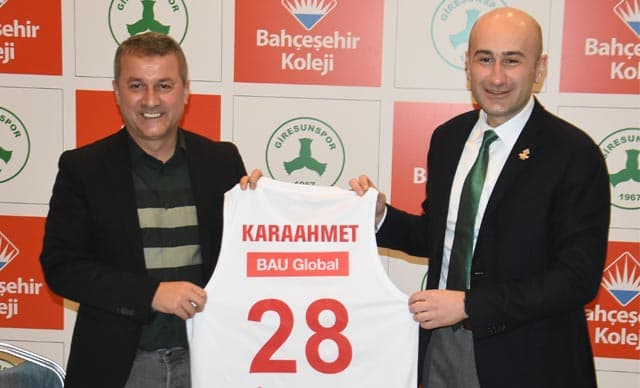 Bahçeşehir Koleji, Giresunspor'un Forma Sırt Sponsoru Oldu