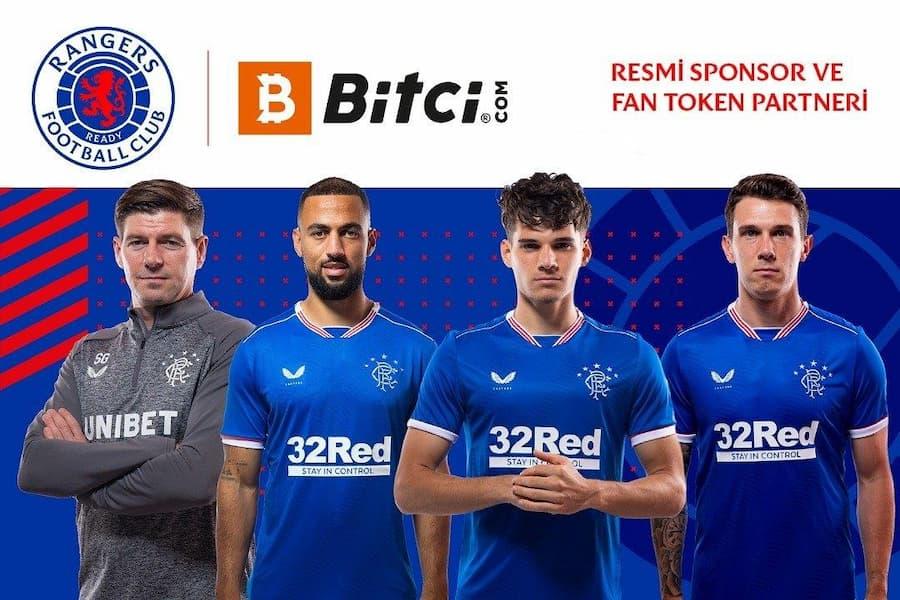 Bitci Teknoloji, Glasgow Rangers'ın Forma Şort Sponsoru Oldu