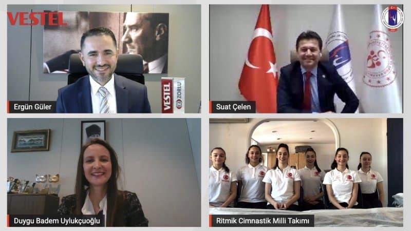 Türkiye Cimnastik Federasyonu ile Vestel Arasında Sponsorluk Anlaşması İmzalandı