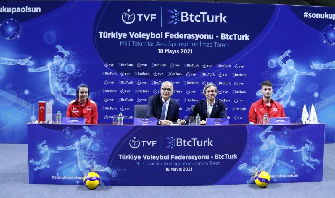 Türkiye Voleybol Federasyonu ile BtcTurk Arasında 2 Yıllık Ana Sponsorluk Anlaşması İmzalandı