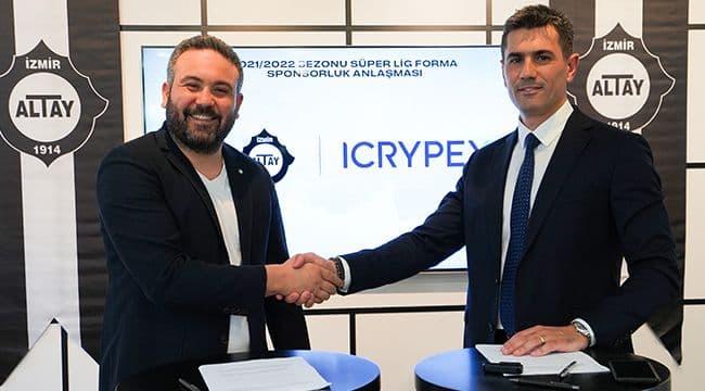 Altay'ın Forma Kol Sponsoru ICRYPEX oldu