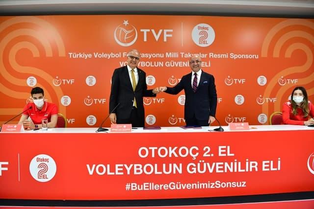 Otokoç 2.El ile TVF Arasında Sponsorluk Anlaşması İmzalandı