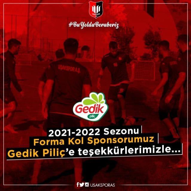 Gedik Piliç, Uşakspor'un Forma Kol Sponsoru Oldu